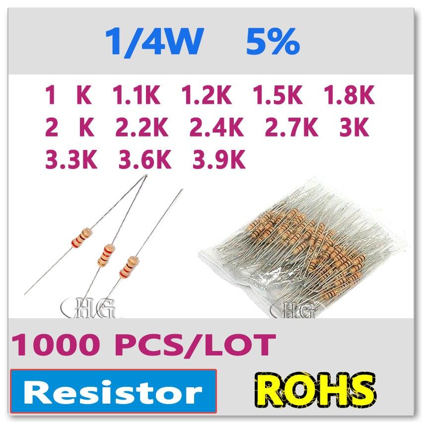 50x Carbon Film Resistors 5/% 1//4W 180k 220k 270k 330k 390k 470k 560k 680k 820k .
