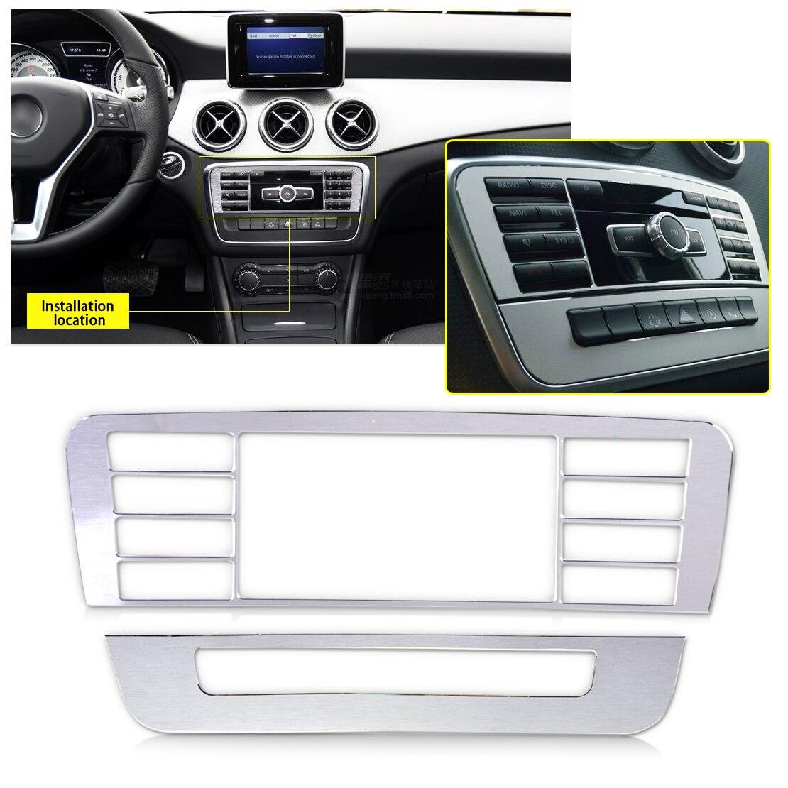 DWCX voiture style 2 pièces Console bouton de contrôle couvercle garniture cadre pour Mercedes Benz classe A W176 B classe W246 GLA classe X156