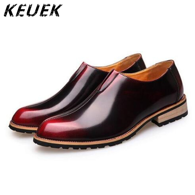 British Style Men Casual Leather shoes Vintage Slip-On Flats Business shoes chaussure homme Male Lofers Youth tide shoes  022 pointed toe tassel leather shoes men slip on brogue shoes flats british style rivet shoes casual loafers chaussure homme 022