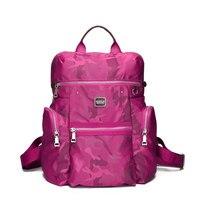 New Fashion Camouflage Printing Backpack Large Capacity Practical Durable Nylon Rucksack Women Lightweight Waterproof Travel Bag