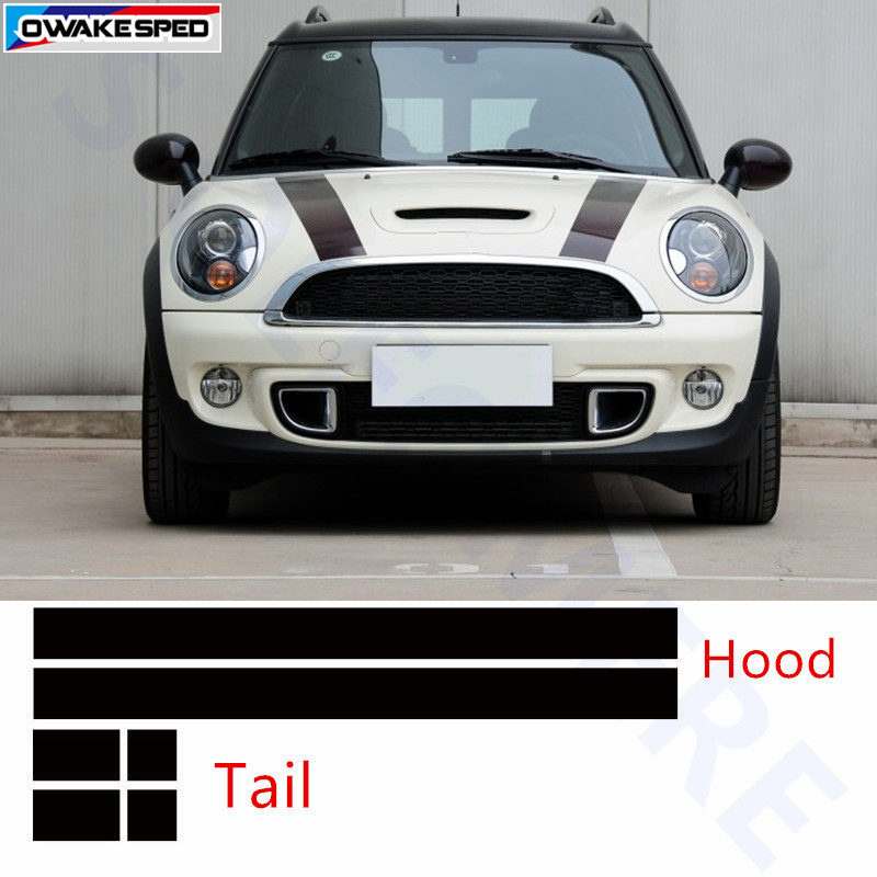 2016 Mini Cooper F54 Bonnet Boot Hood Trunk Decor Sticker Stripe Decals Graphics