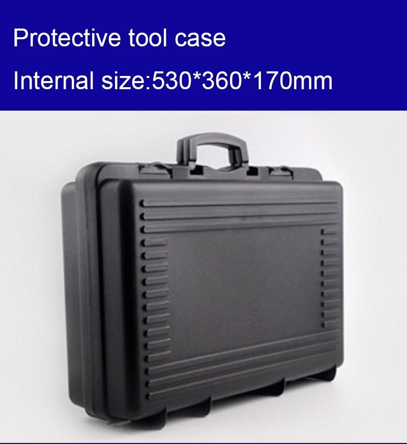 530*360*170 мм пластиковый корпус инструмента Toolbox чемодан ударопрочный инструментария ящик для хранения автомобиля оборудование корпус камеры ...