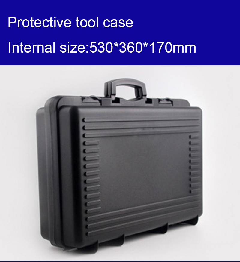 530*360*170mm Plastic Tool Case Toolbox Suitcase Impact Resistant Instrumentation Box Car Storage Box Camera Case With Foam