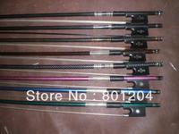 Wholesale 8pcs of Carbon fiber violin bow(composite violin bow 4/4) in different colors