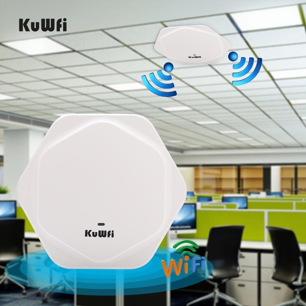 KuWFi high performance 2.4G 300Mbps WiFi Ceiling AP Wireless 802.11b/g/n QCA9531 Enterprise Wifi System Access Point 48V POE comfast 300m wifi ceiling wireless ap 802 11b g n qca9531 enterprise wifi system ap 48v poe open ddwrt access point ap cf e320v2
