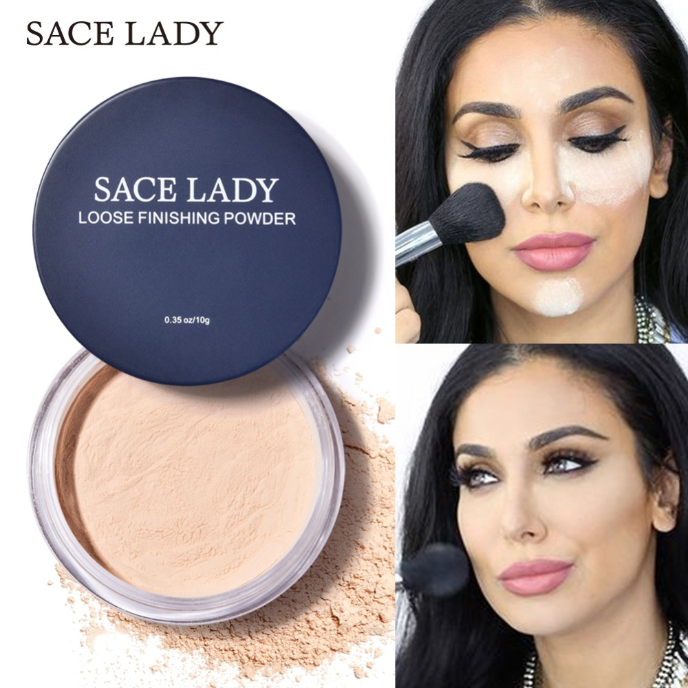 SACE LADY Face Loose Powder Matte Finish Transparent Setting Powder Professional Translucent Makeup Oil-control Compact Cosmetic