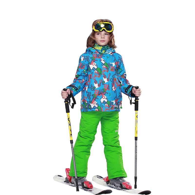 2018 enfants Ski costume garçons survêtement extérieur chaud à capuche vestes + pantalon de Ski hiver Sport ensembles survêtement pour garçon neige vêtements