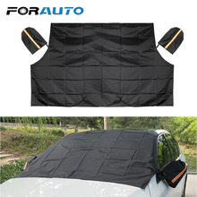 Mat Car-Cover Sun-Shade Windshield Magnetic FORAUTO Frost Half-Size