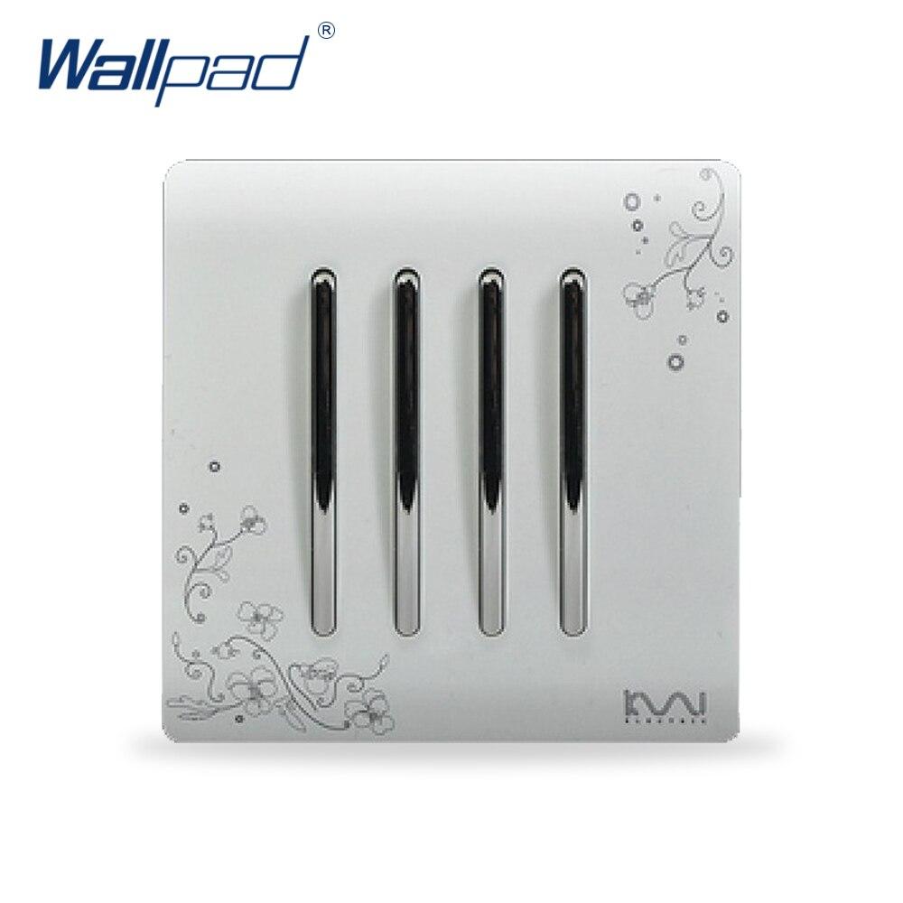 2018 4 Gang 1 Way Light Switch Hot Sale Wallpad Luxury Wall Switch Panel C30 Series 110~250V жидкость gang vape escobar 30 мл 0 мг