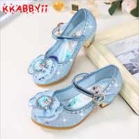 Nouvelles filles sandales Elsa princesse chaussures élégant danse fête mariage chaussures Chaussure Enfants bleu rose Violet EU 24-36
