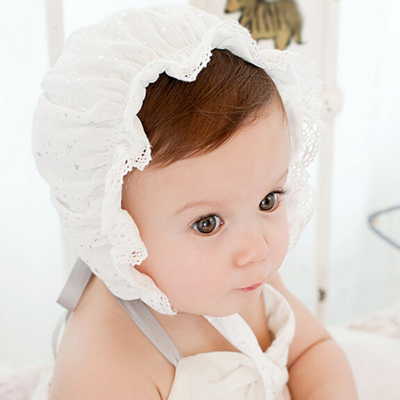 Newborn Baby Cotton Hat Infant Lace Star Pattern Hat Newborn Baby Boy Girl Warm Beanie Cap 0-8 Months