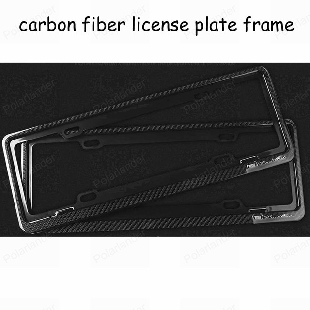 universal Black Tag Cover Holder one pair carbon fiber front and rear license plate framework Mounting Holder custom made