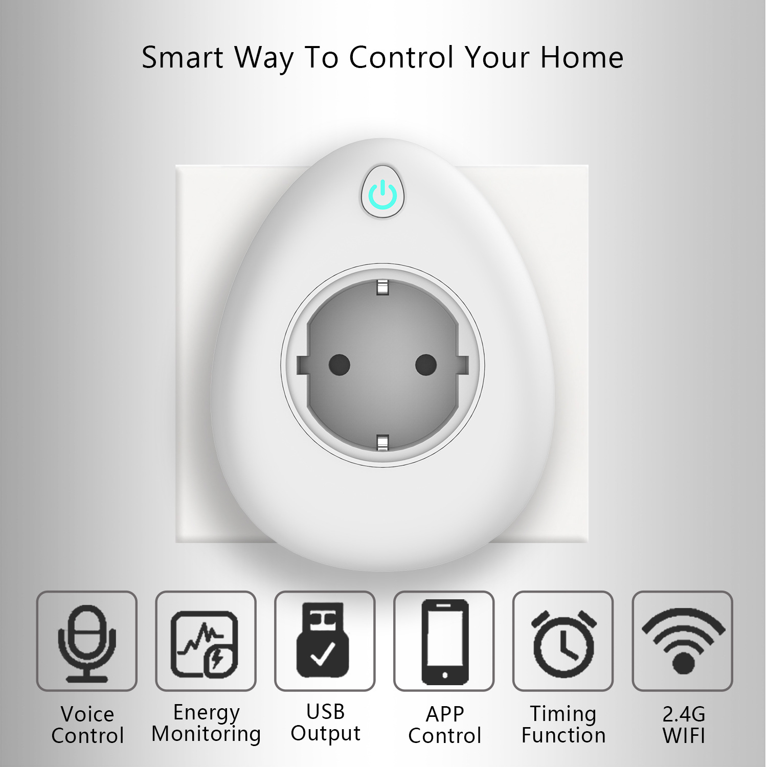 Image 2 - Wifi Smart Socket with free gift charging cable 16A  US EU UK India Israel Plug Voice Remote Control Work with Alexa Tuya App-in Mobile Phone Chargers from Cellphones & Telecommunications