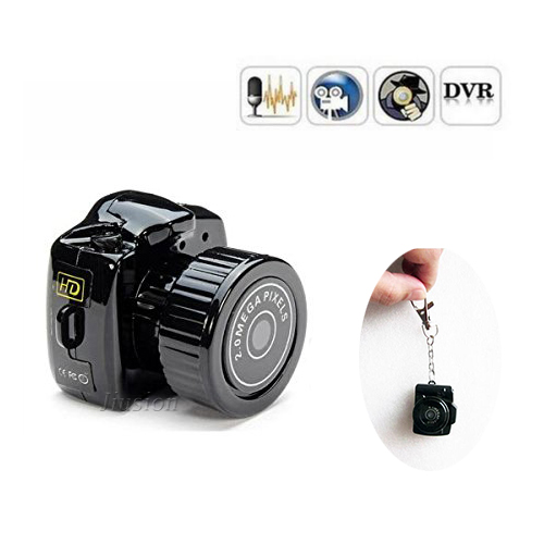 Smallest DV Camera Portable y2000 Mini Camcorder Digital 480P Video Audio Recorder Webcam DVR Nanny Pets Car Micro Secret Cam
