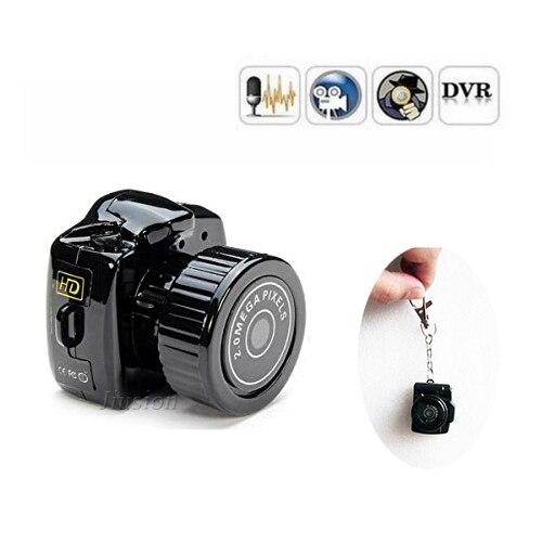Smallest DV Camera Portable y2000 Mini Camcorder Digital 480P Video Audio Recorder Webcam DVR Nanny Pets Car Micro Secret Cam
