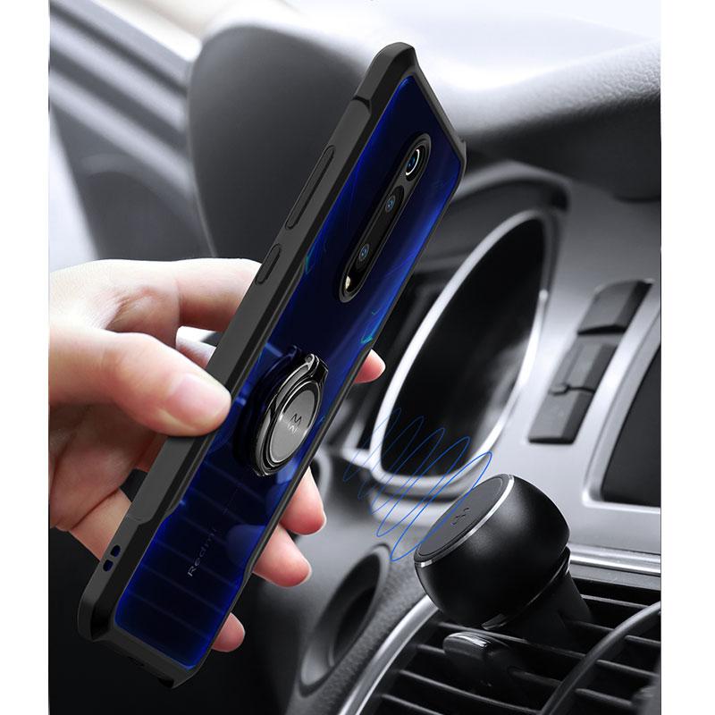 HTB1ZkgDXrr1gK0jSZFDq6z9yVXad For Xiaomi Redmi Note 7 7 cc9 Pro Transparent Acrylic+TPU XUNDD Phone case for xiaomi K20 Pro Mi 9T Pro Ring Protective cover