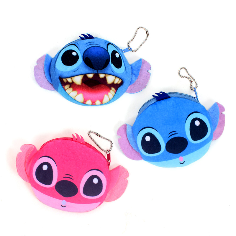 Cartoon 3D Stitch 11CM - Plush Lady's Coin Purse & Wallet Pouch Case Bag Pendant Makeup Storage BAG Holder Pouch Handbag