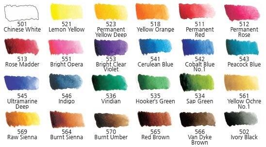 Купить с кэшбэком Hotsale Mijello gold 24 colors watercolor master high concentration pure golden mission natural pigment watercolour paints