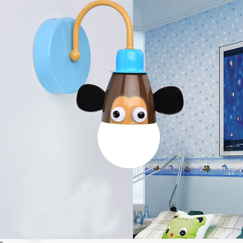 2016 Creative Animals Wall Sconce For Kids Children Bedroom Lighting Fixtures Lamp Lovely Cute Zoo Wall Lights For Home Banheiro kids draw animals