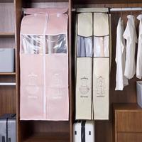 Большой пылезащитный чехол для одежды  костюм  платье  пальто  ткань с принтом  защитный чехол для дома  нетканый чехол для одежды  сумка