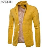 Mens Fashion Cotton Linen Slim Fit Blazer Jacket Lightweight Casual Solid Suit Blazer Men Casual Party Wedding Blazer Masculino