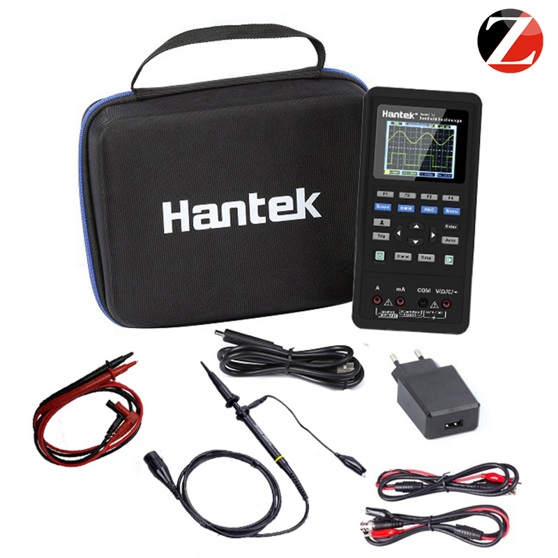 <font><b>Hantek</b></font> handheld <font><b>oscilloscope</b></font> Portable Digital <font><b>Oscilloscope</b></font> 2D72 3 in 1 250MSa/S Waveform Generator Multimeter 2 Channel image