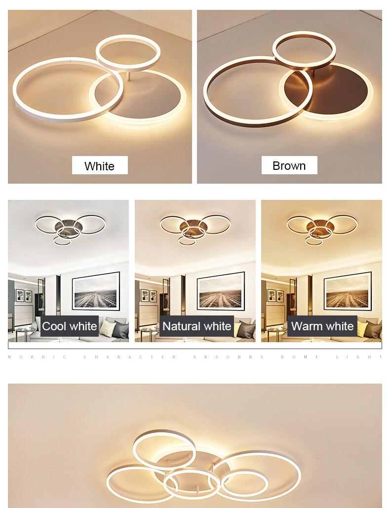 HTB1ZkgjXfvsK1RjSspdq6AZepXa0 Circular Ceiling Light | Circular Light Bulb | NEO Gleam 2/3/5/6 Circle Rings Modern led ceiling Lights For living Room Bedroom Study Room White/Brown Color ceiling Lamp led circle light, circle light, ring ceiling light