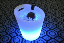 Waterproof Colorful LED Light Champagne Ice Bucket Rechargeable Fresh luminous champagne coolers remote controller + Adapter