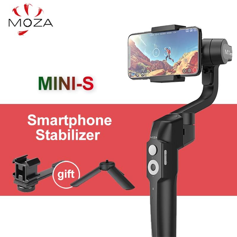 Moza Mini S 3 Axis Gimbal Smartphone stabilizer Foldable Portable Handheld Gimbal Stabilizer for GoPro Phones