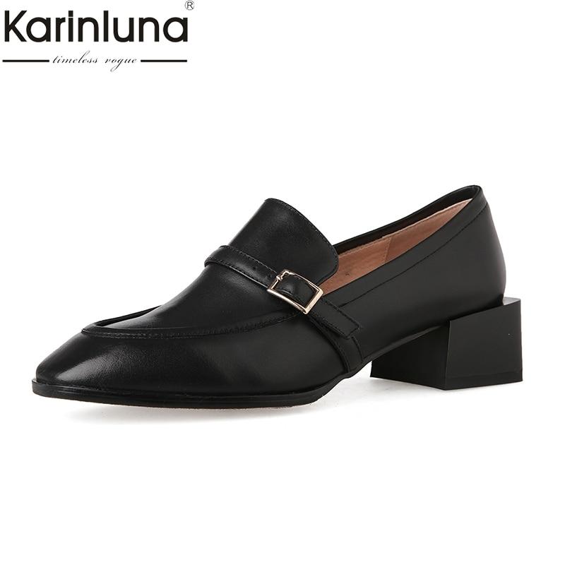 KarinLuna Lady Chunky Heels 2019 Brand New Ins Style Mature womens Pumps Classics Fashion womens ShoesKarinLuna Lady Chunky Heels 2019 Brand New Ins Style Mature womens Pumps Classics Fashion womens Shoes