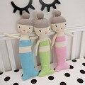 Altura 47-35-39cm travesseiros de bebê, Bebê Crianças Bonecas Artesanais crianças Malha para decoração do quarto do bebê de Aniversário/Presente de Natal
