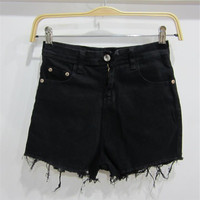 High Waist Jeans Woman 2017 New American Apparel Fashion Easy Wide Leg Tassels Thin All Match