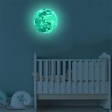 Мебель для дома 3D Большая Луна флуоресцентная Наклейка на стену Съемная светится в темноте наклейка s спальня DIY Декор винил