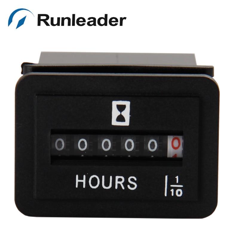 Runleader AC Digital Mechanical Hour Meter RL HM001 For Generators Motors Diesel Engine Mower Snowmobile pump