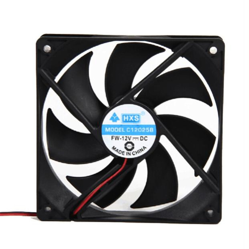 Computer Case Cooling Fan 120mm 120x25mm 12V 4Pin DC Brushless PC Computer Case Cooling Fan 1800PRM O.15 120x25mm 120mm fan 12v dc brushless pc computer case cooler 3pin connector cooling fan for cpu radiating for desktop pc