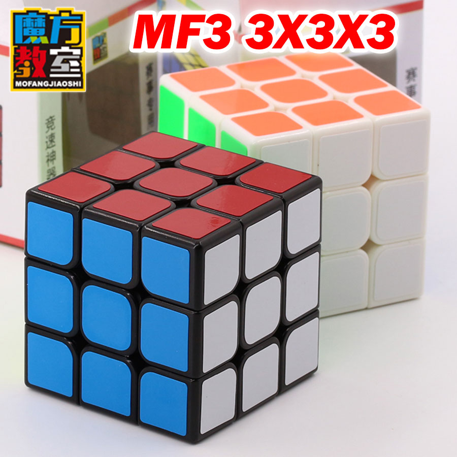 Puzzle Magic Cube MoYu MoFang JiaoShi MF3 3x3x3 3*3*3 professional competition speed cube easy logic game toys gift image