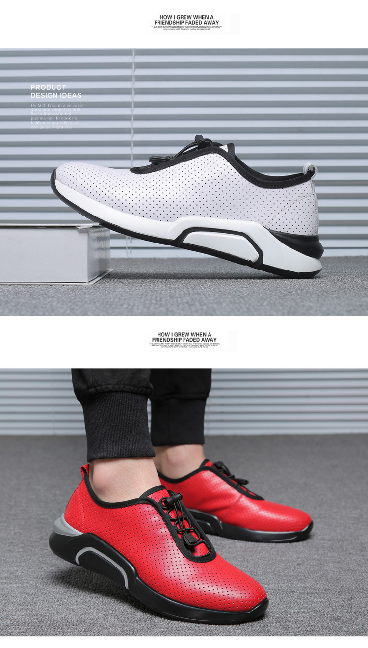 Spring Autumn Men Casual shoes Genuine leather Breathable Male Sneakers Lace-Up Flats Sport shoes zapatos de hombre 02A 27