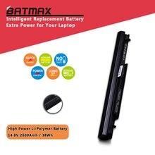 4 ячейки 2600 мАч аккумулятор для ноутбука ASUS A46 A56 E46 K46 K56 R405 R505 R550 S40 S46 S505 S550 S56 U48 U58 V550 P/N A31-K56 A32-K56