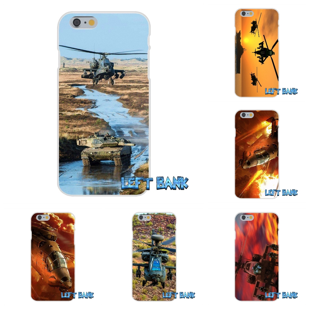 Apache Helicopters at sunset Print Soft Silicone TPU Transparent Cover Case For iPhone 4 4S 5 5S 5C SE 6 6S 7 Plus