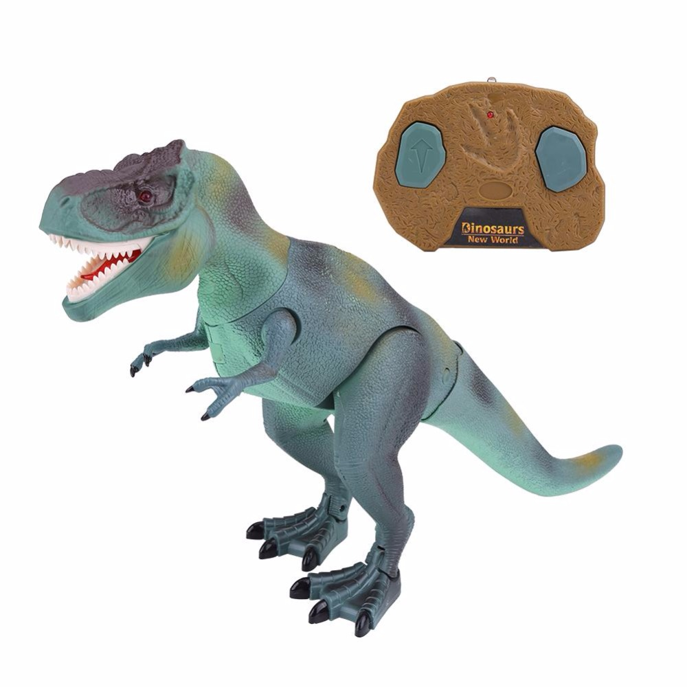 2018 Hot Sale Kids RC Dinosaur Toy Electric Remote Control Animal Model Toys RC Walking Dinosaur Model Toys Funny Gifts For Kids 37 cm tyrannosaurus rex with platform dinosaur mouth can open and close classic toys for boys animal model without retail box