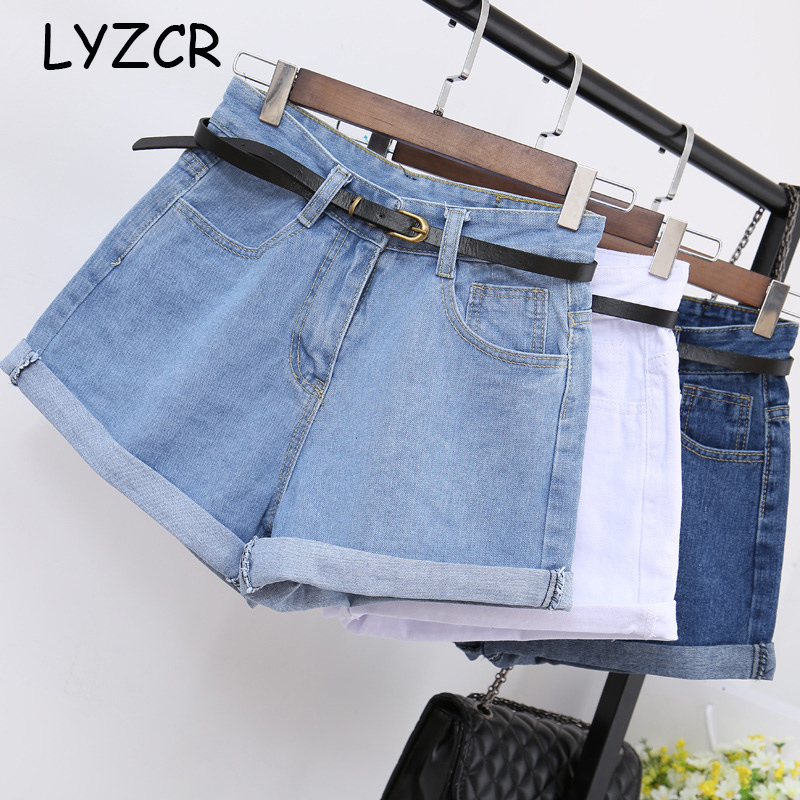 Causal Wide Leg Denim Shorts Women Summer Loose Classic High Waisted   Jeans   Short For Women Denim   Jean   Shorts With Belt Oversize