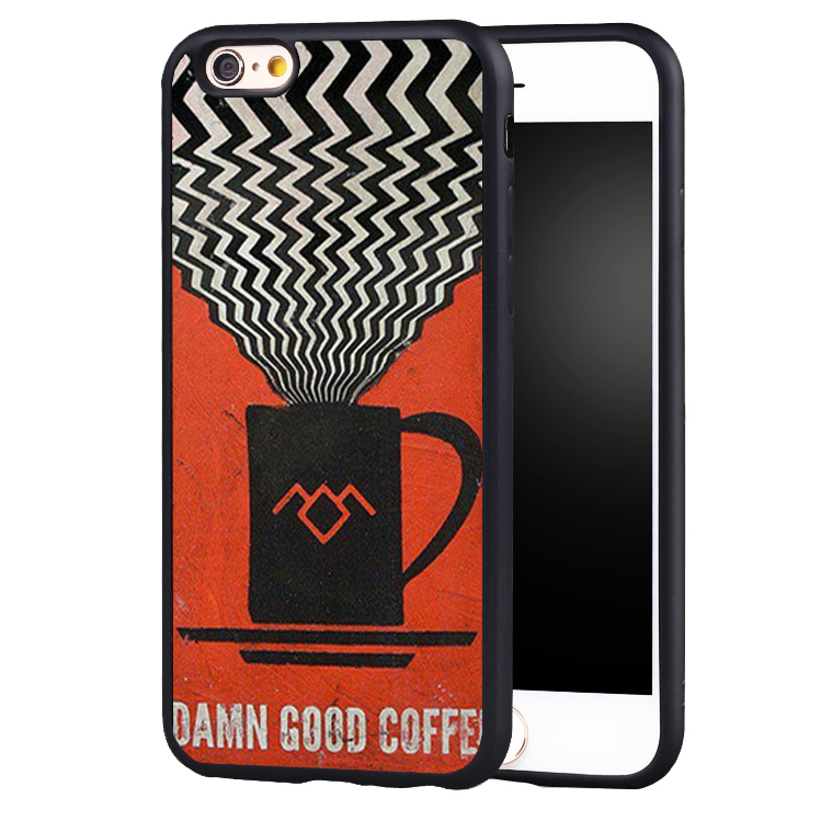TV series twin peaks vintage Soft Silicone Full Protective case Cover For iPhone X 8 7 7Plus 6 6S Plus 5 5S SE
