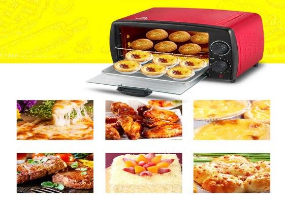 Four maison cuisson mini grille-pain 12L 3 niveau 750 W gâteau poulet ailes fabricant Pizza pain cuisinière Steak oeuf friteuse