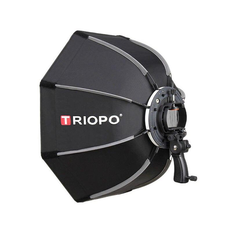 TRIOPO 65 cm Portable En Plein Air Octogone Parapluie Softbox pour Godox V860II TT600 TT685 YN560 III IV TR-988 1 flash Soft Box - 3