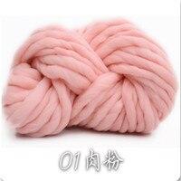 ホット販売500グラムあたりロット分厚い糸天然ウール編み用品厚いウール糸手紡績糸ジャイアントニット大きなステッチkn
