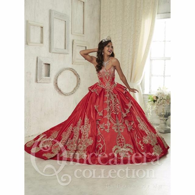 Lindo Querida Red Vestidos Quinceanera Lace up Doce 16 Vestido vestidos de 15 años Princesa vestido de Baile vestido de baile