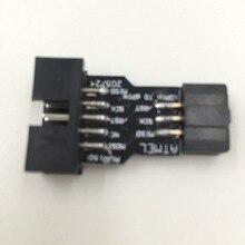 10 Булавки до 6 Булавки адаптер совета M/F для AVRISP USBASP STK500 цвет: черный, синий