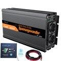 Power inverter 12V 220V 1500W reine sinus welle 12V zu AC 220V 230V off grid konverter mit fernbedienung-in Wechselrichter & Konverter aus Heimwerkerbedarf bei