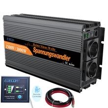 Onduleur 12 V 220 V 1500 W onde sinusoïdale pure 12 V au convertisseur AC 220 V 230 V