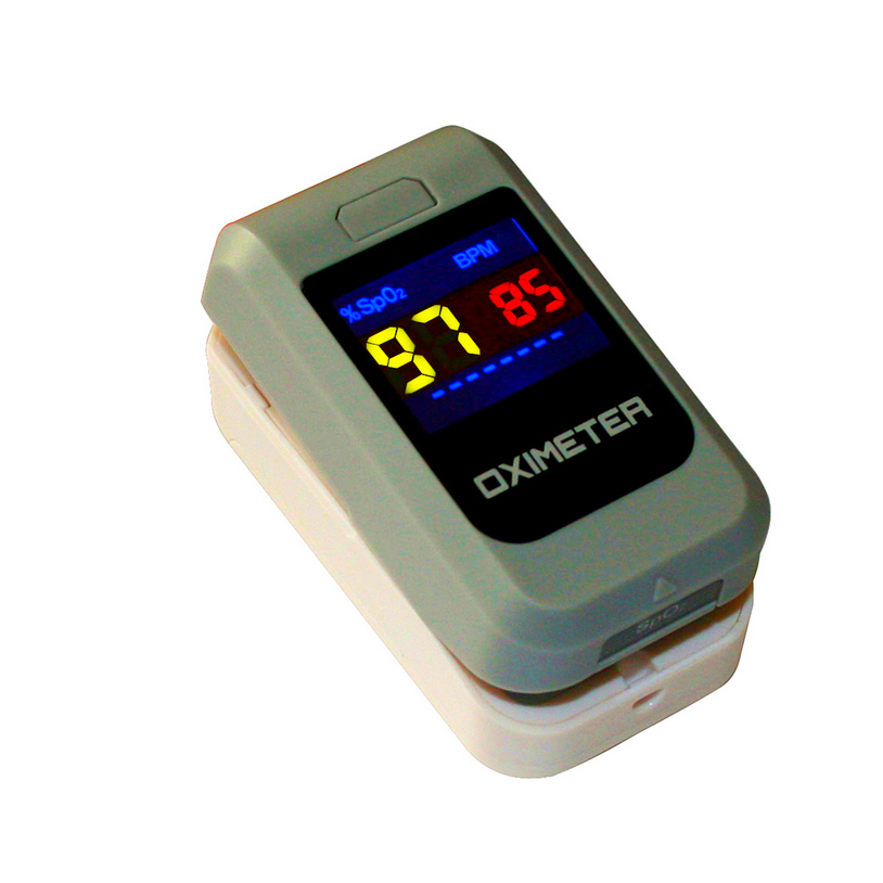 ФОТО Diagnostic-tool AH-8013 Fingter Fip Pulse Oximeter Red LCD display of SpO2, PR and Pulse Bar Oximetro Device